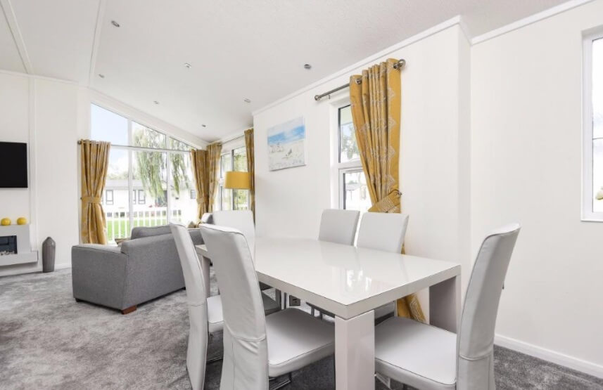 Lounge/Diner of park home available in cambridgeshire